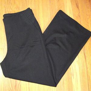 Women's CHICO'S Black Pants sz 2 (size 12)